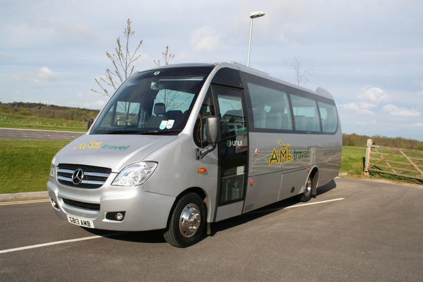 We take delivery of another 29 seat Mercedes Midicoach